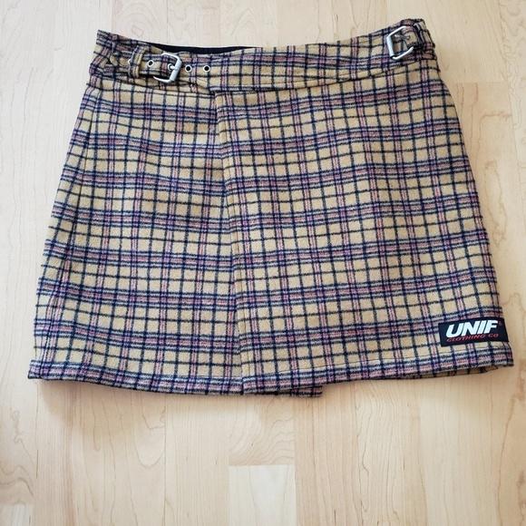 9d58b695ea UNIF Skirts | Plaid Francis Skirt | Poshmark